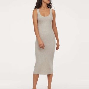 Anthropologie Clara Midi Ribbed Knit Tank Dress